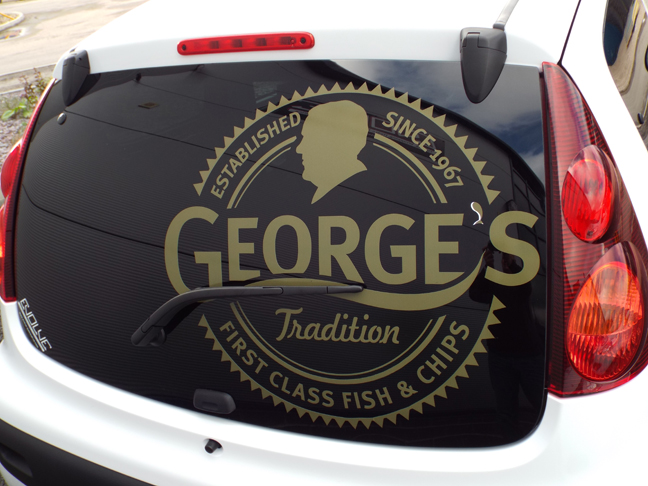 George's Tradition Peugeot Signage