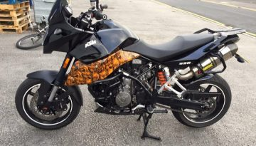 KTM Bike: Hydro-Dipped Side Panel