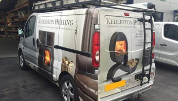 Kedleston Heating: Van Signage (Vivaro)