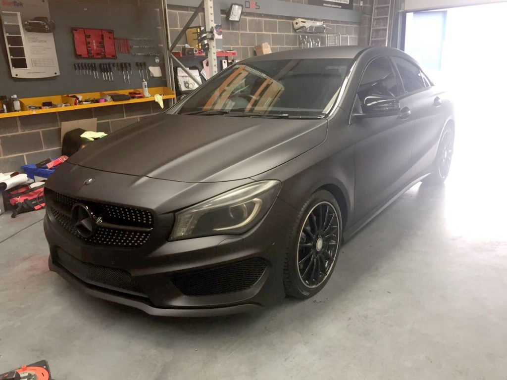 Mercedes benz cla full matte wrap light window tints for Matte mercedes benz