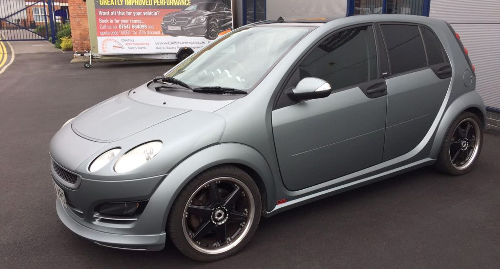 Smart Car Brabus Forfour: Frozen Grey Wrap & Window Tints