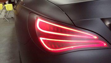 Mercedes Benz CLA: Full Matte Wrap, Light & Window Tints