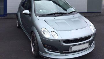 Smart Car Brabus Forfour: Frozen Grey Wrap & Window Tints